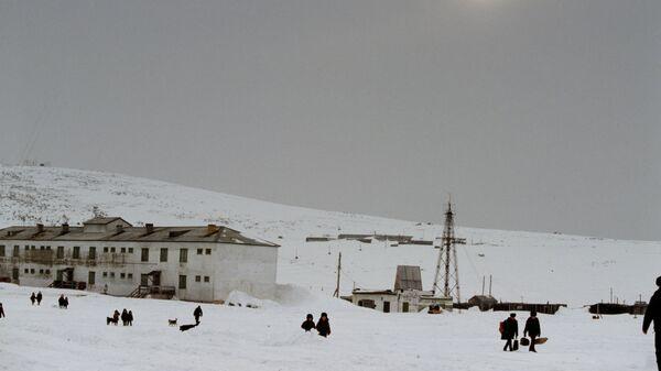 Поселок городского типа Нунлигран зимой