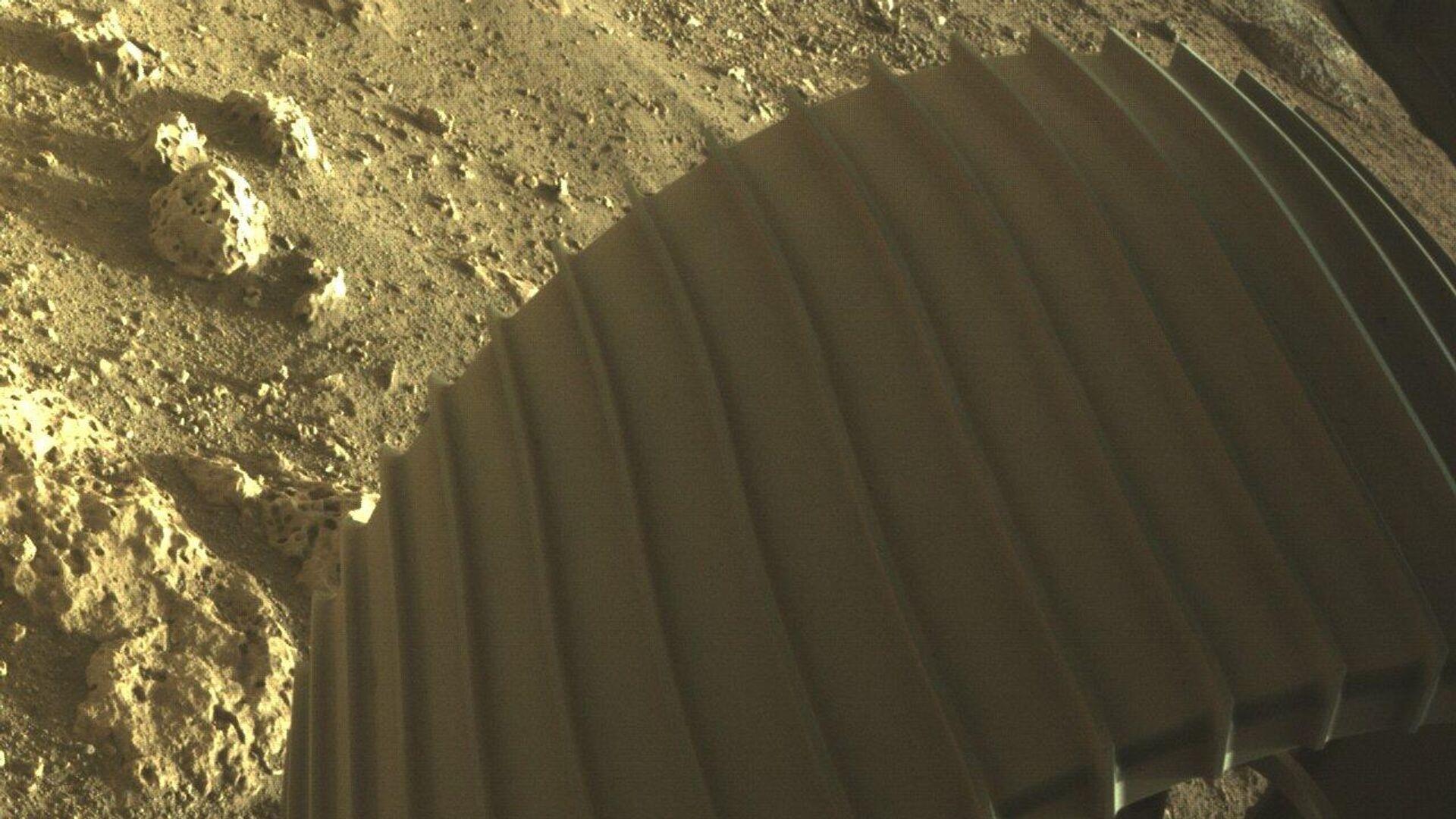 Фотографии, снятые исследовательским аппаратом NASA's Perseverance Mars Rover, который совершил посадку на Марсе в ночь на 19 февраля - РИА Новости, 1920, 21.02.2021