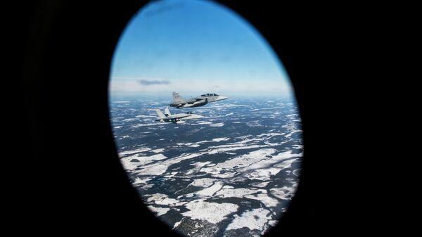 Учения ВВС Швеции и Финляндии