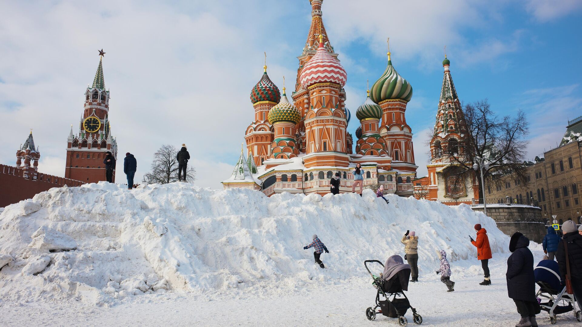 Зима в Москве - РИА Новости, 1920, 28.02.2021