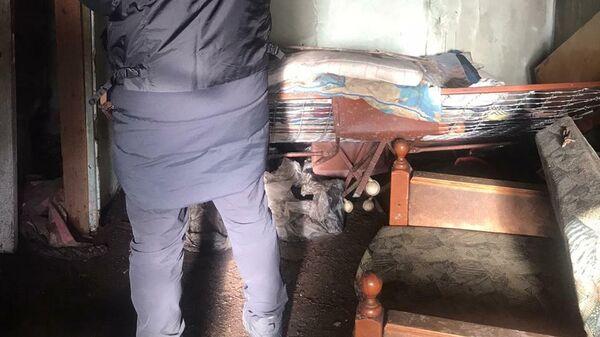 Последствия пожара в Нюрбинском районе республики Якутия