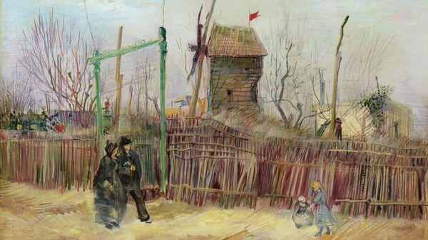 Картина Уличная сцена в Монмартре художника Ван Гога