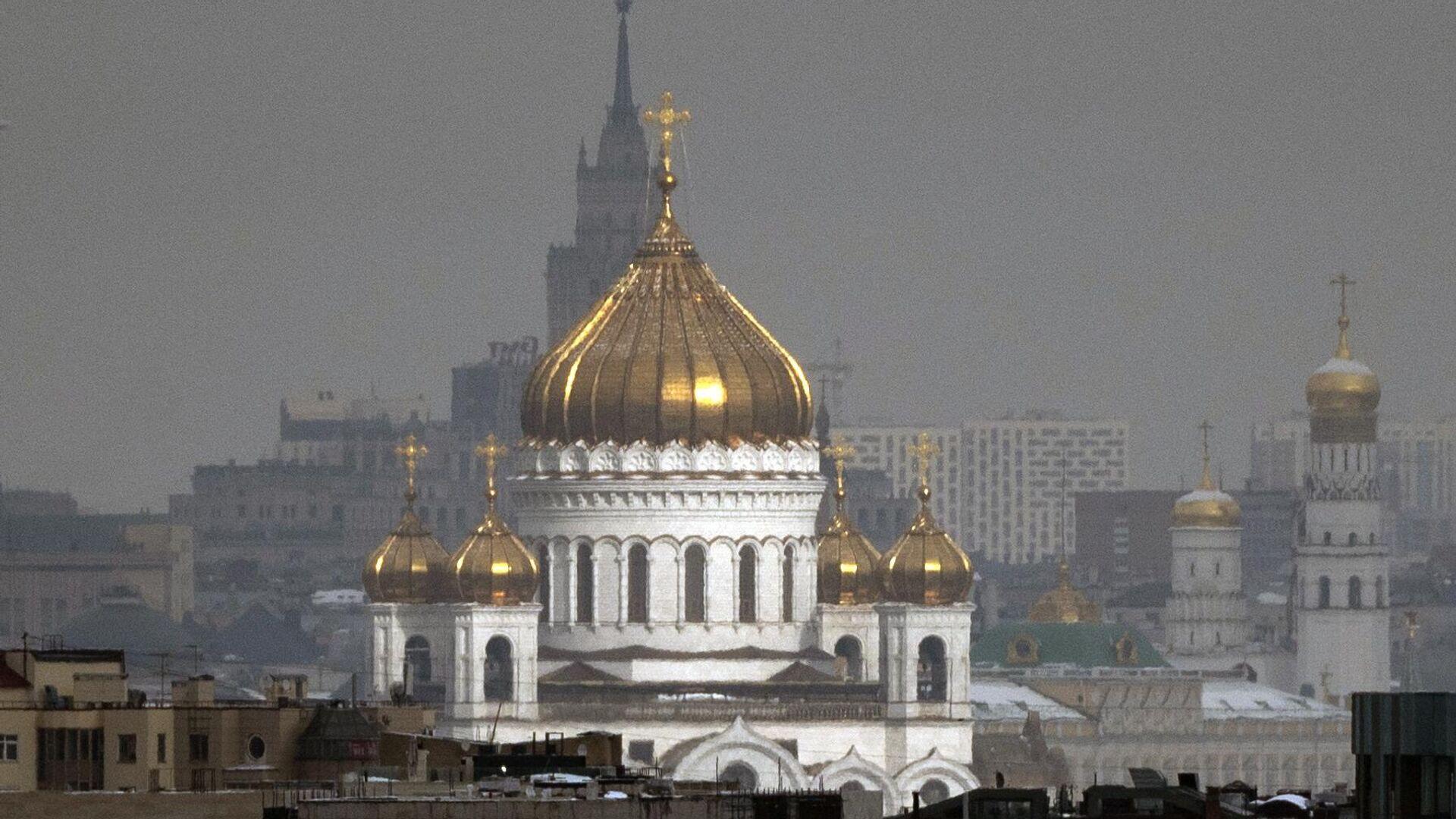 Вид на Храм Христа Спасителя - РИА Новости, 1920, 03.08.2021