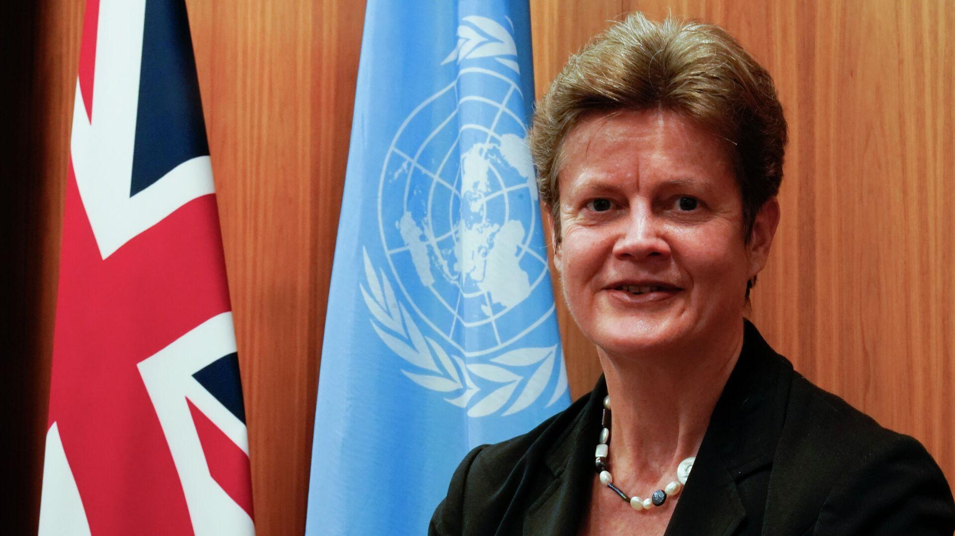 Постоянный представитель Великобритании при ООН Барбара Вудворд - РИА Новости, 1920, 01.03.2021