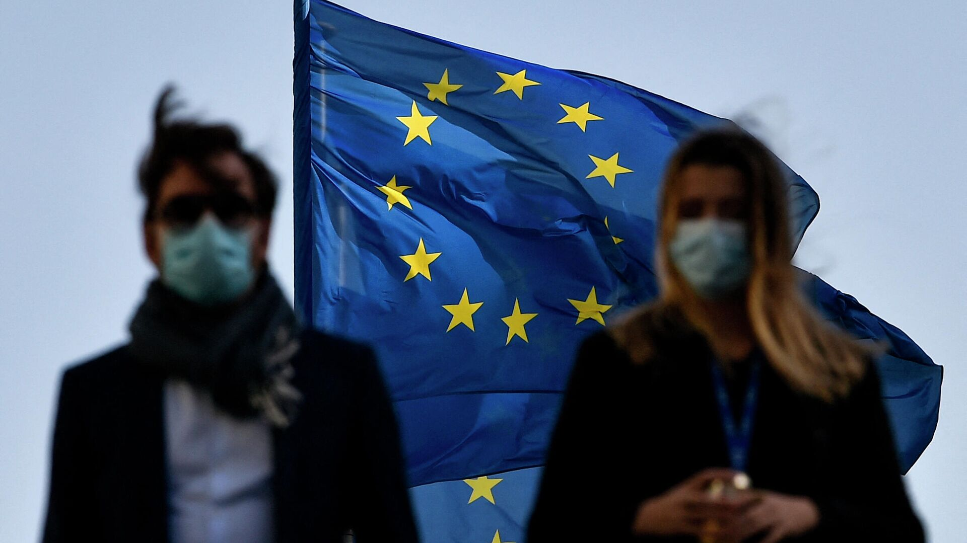 Флаг ЕС в Брюсселе - РИА Новости, 1920, 04.03.2021