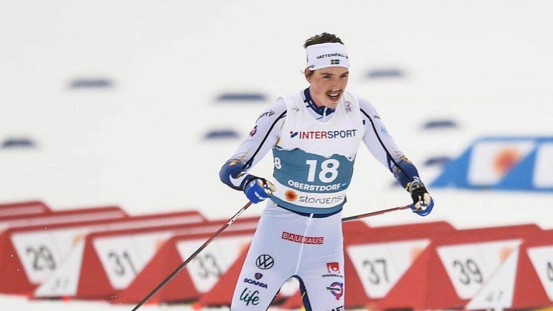 Шведский лыжник Вильям Поромо. - РИА Новости, 1920, 03.03.2021