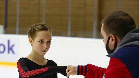 Елизавета Берестовская с тренером Сергеем Давыдовым.