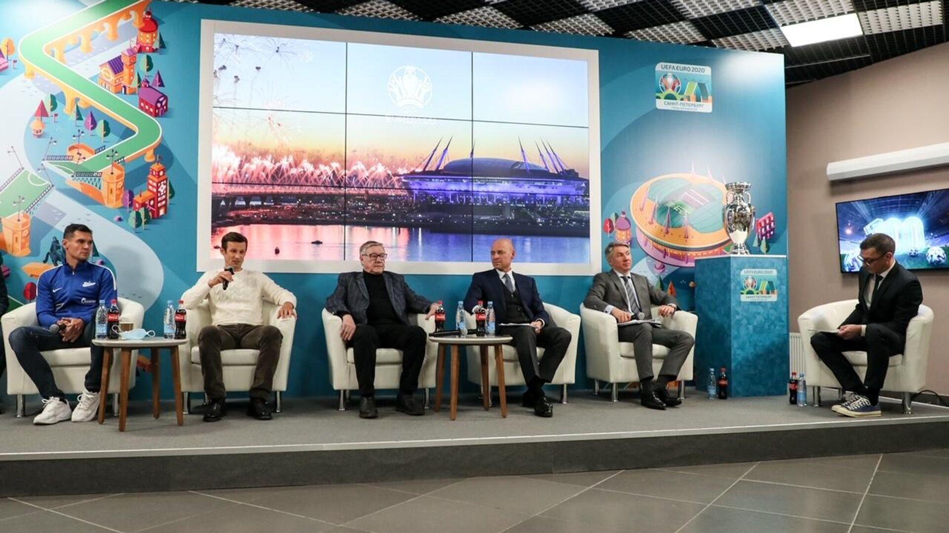 В Петербурге прошли мероприятия, приуроченные к 100 дням до старта ЕВРО-2020 - РИА Новости, 1920, 03.03.2021