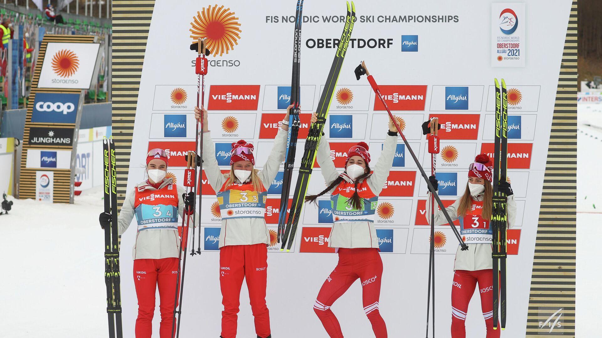 Женская сборная России по лыжным гонкам - РИА Новости, 1920, 04.03.2021
