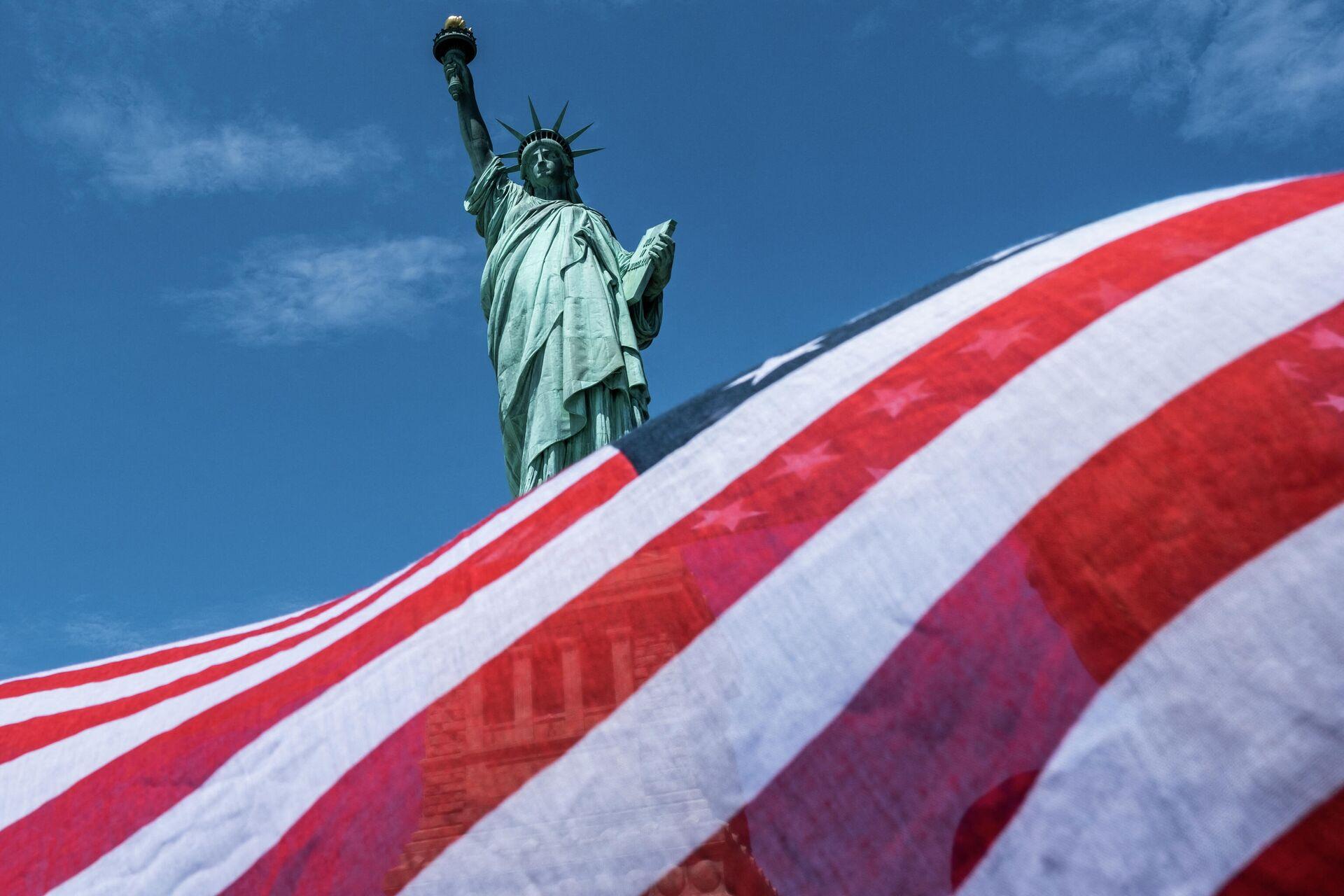 Статуя Свободы в Нью-Йорке - РИА Новости, 1920, 04.03.2021