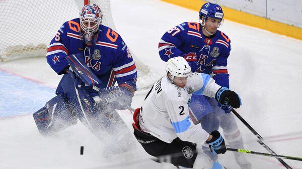Хоккей. КХЛ. Матч СКА - Динамо (Минск)