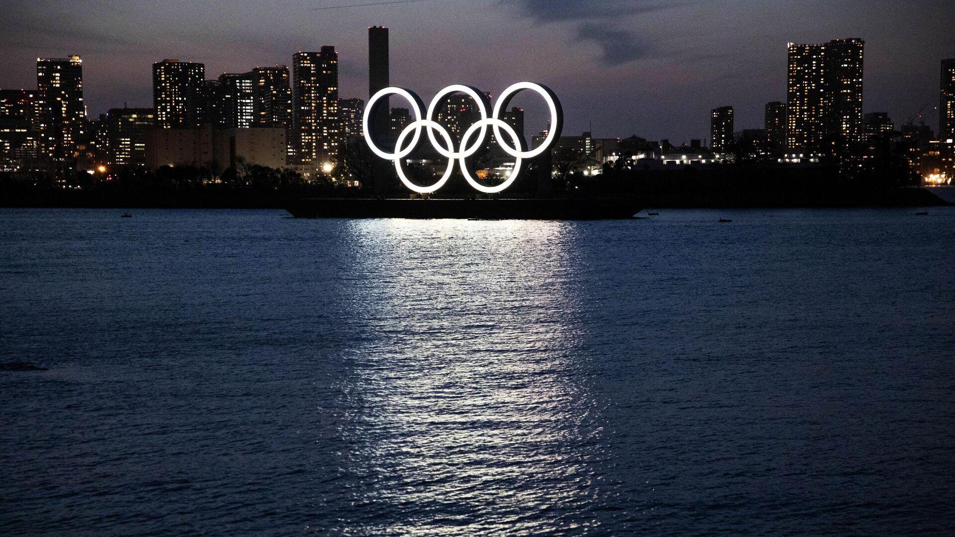 Олимпийские кольца в Токио - РИА Новости, 1920, 13.06.2021