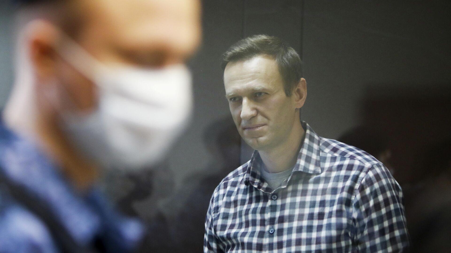 Блогер Алексей Навальный на заседании суда в Москве - РИА Новости, 1920, 24.03.2021
