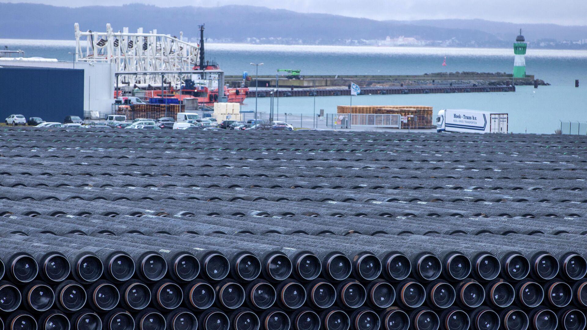 Трубы для строительства газопровода Северный поток 2 - РИА Новости, 1920, 15.04.2021