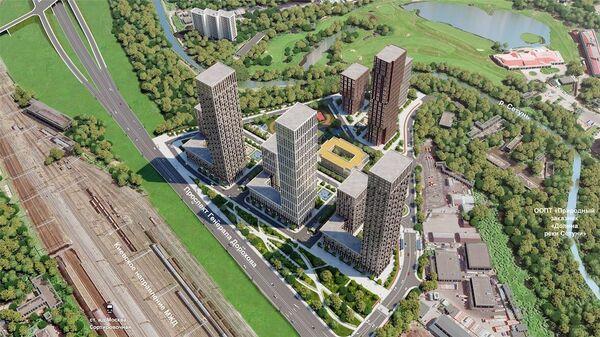 Проект жилого комплекса на улице Братьев Фонченко вблизи Поклонной горы в Москве