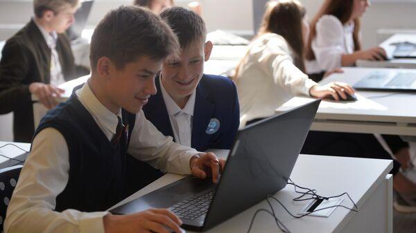 Ученики в классе в школе Екатеринбурга