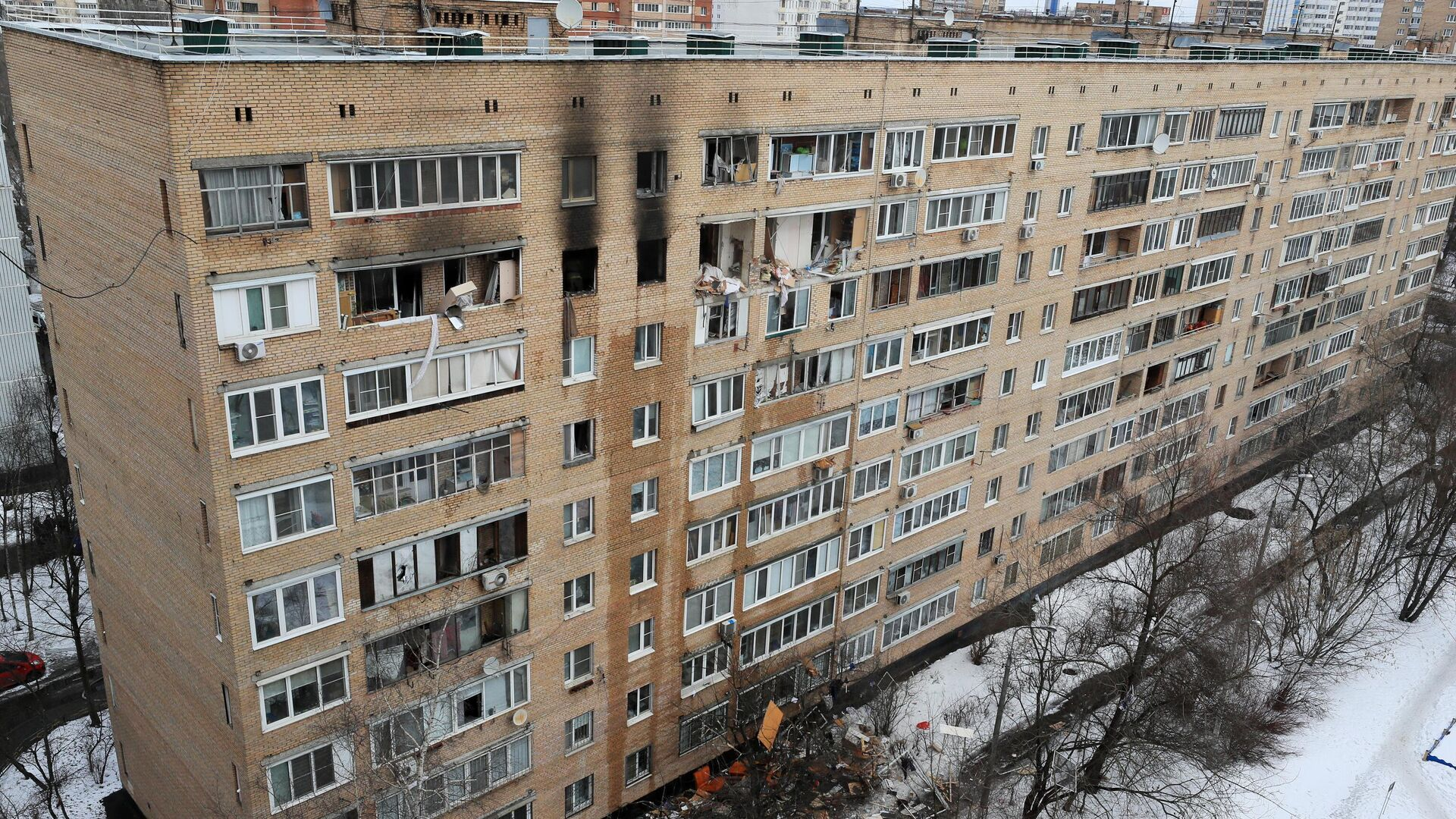 Последствия взрыва в жилом доме на улице Зеленой в Химках - РИА Новости, 1920, 22.03.2021