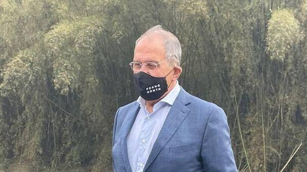 Министр иностранных дел РФ Сергей Лавров во время визита в Китай