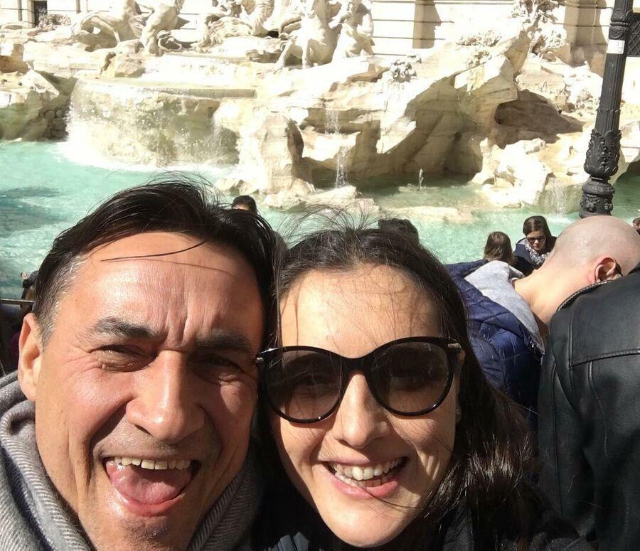 Камиль Ларин и Екатерина в Риме