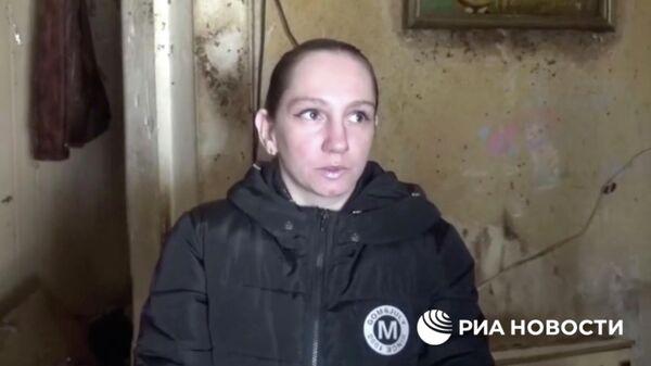 Мать девочки, найденной в Талдоме, Московская область. Кадр из видео