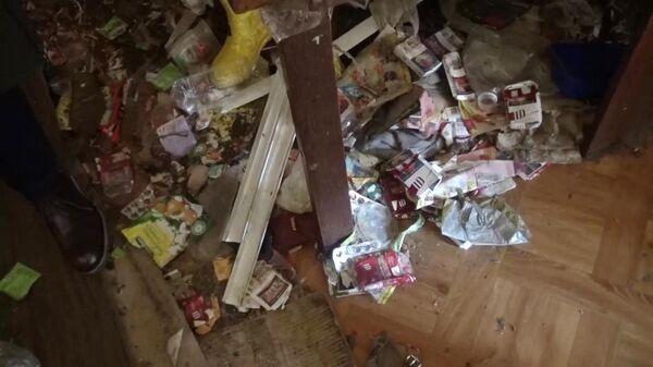 Обстановка частного дома в Талдоме, где нашли истощенную девочку без одежды предположительно 3-4 лет