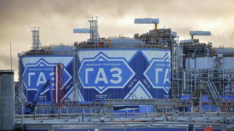 Завод по производству сжиженного природного газа Ямал СПГ в морском порту Саббета на западном берегу Обской губы Карского моря