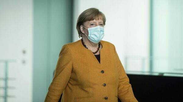 Канцлер Германии Ангела Меркель в Берлине. 24 марта 2021