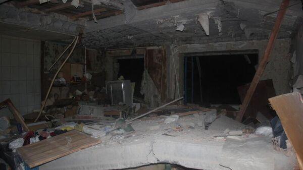Последствия взрыва газа в жилом доме в Зеленодольске (Татарстан), где обрушились шесть квартир