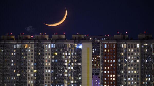 Жилые дома в микрорайоне Митино в Москве