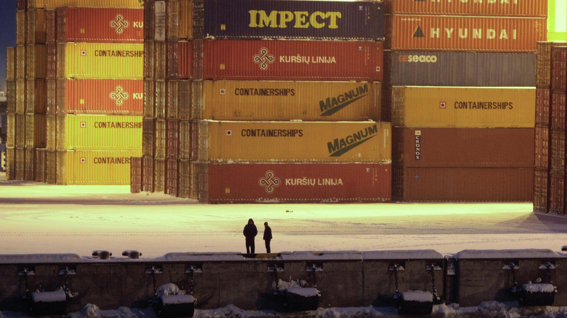 Причал морского порта Большой порт Санкт-Петербург - РИА Новости, 1920, 31.03.2021