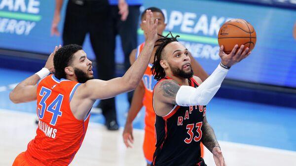 Игровой момент матча НБА Торонто Рэпторс - Голден Стэйт Уорриорз