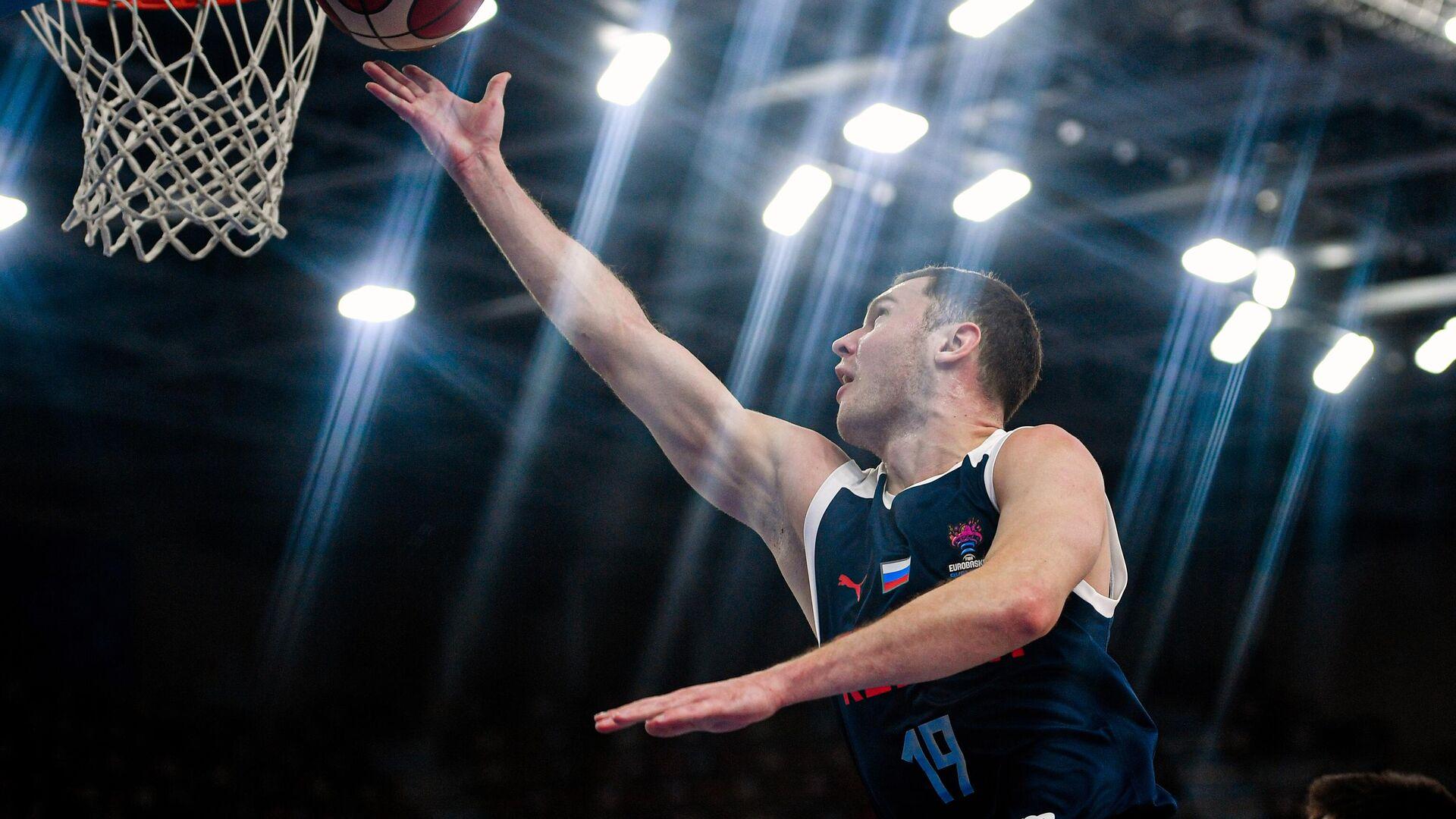 Баскетбол. Мужчины. Квалификация Евробаскета-2022. Матч Македония - Россия - РИА Новости, 1920, 03.04.2021