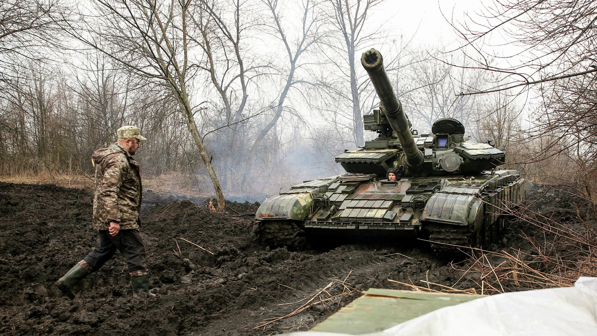 Украинские военные в Луганской области - РИА Новости, 1920, 08.04.2021