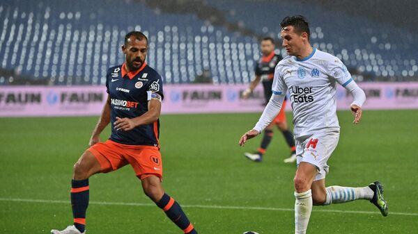 Игровой момент матча Монпелье - Марсель