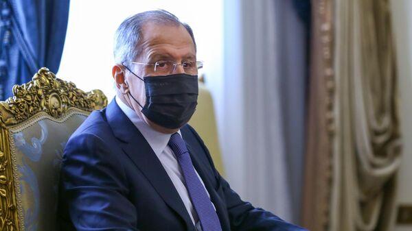 Министр иностранных дел РФ Сергей Лавров во время встречи с президентом Арабской Республики Египет Абделем Фаттах ас-Сисом