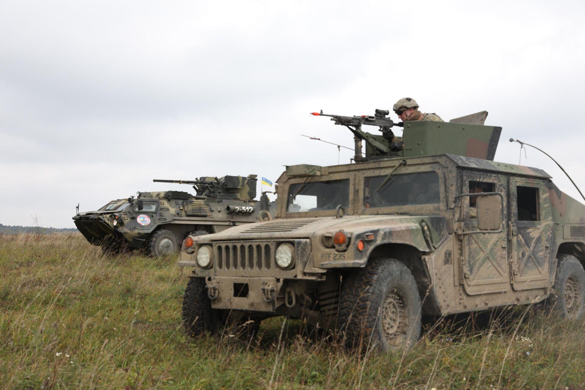 Военнослужащие США и Украины во время учений Rapid Trident во Львовской области, Украина - РИА Новости, 1920, 27.04.2021