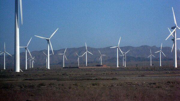 Ветряная электростанция в Китае