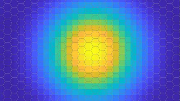 Изображение экситона, показывающее вероятностное пространственное размещение электрона относительно дырки