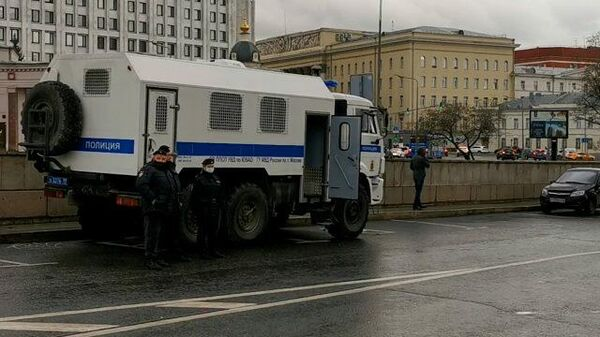 Усиление нарядов полиции в центре Москвы