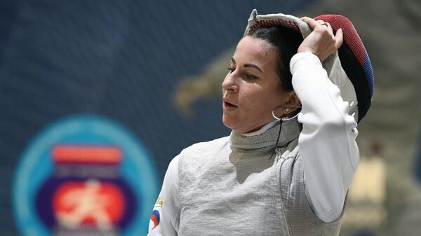 Олимпийская чемпионка по фехтованию на рапирах Инна Дериглазова