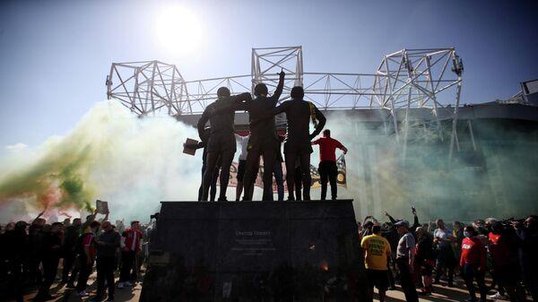 Болельщики английского Манчестер Юнайтед