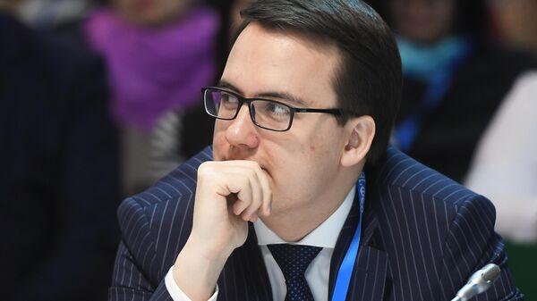 Министр культуры, туризма и архивного дела Республики Коми Сергей Емельянов на Красноярском экономическом форуме.