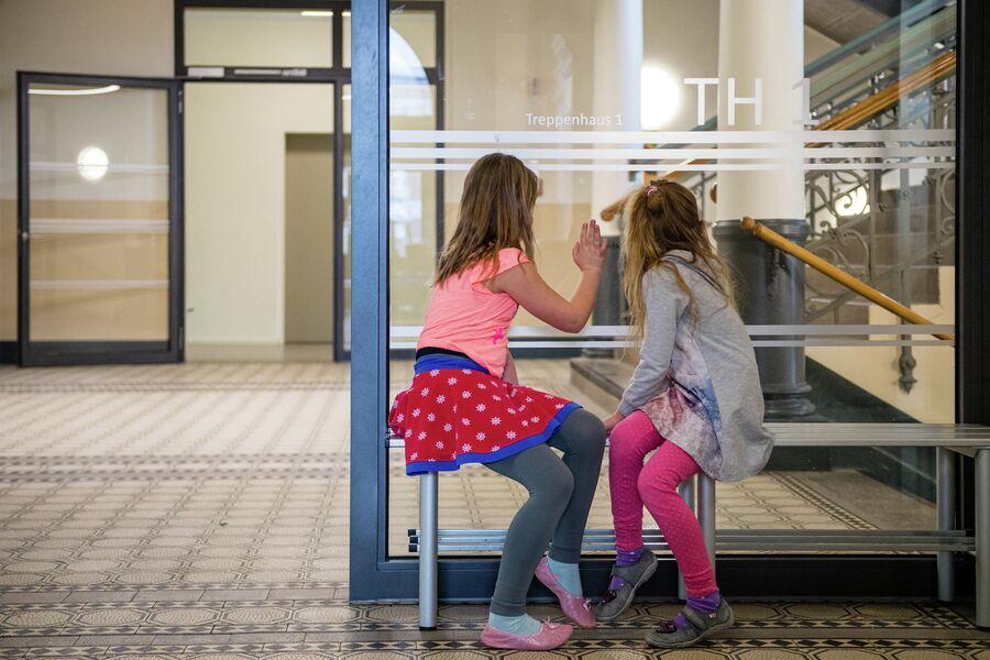 Дети в школе в Дрездене