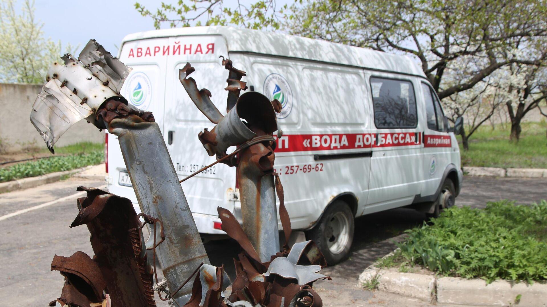 Последствия обстрела в Донецке - РИА Новости, 1920, 25.06.2021