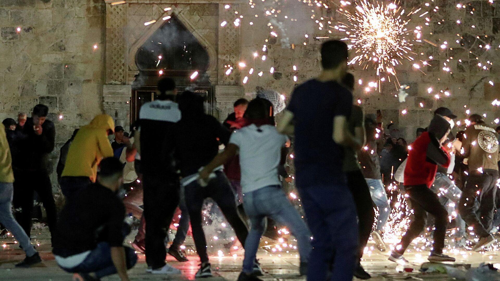 Enfrentamientos cerca de la mezquita de Al-Aqsa en Jerusalén-RIA Novosti, 1920, 05/08/2021