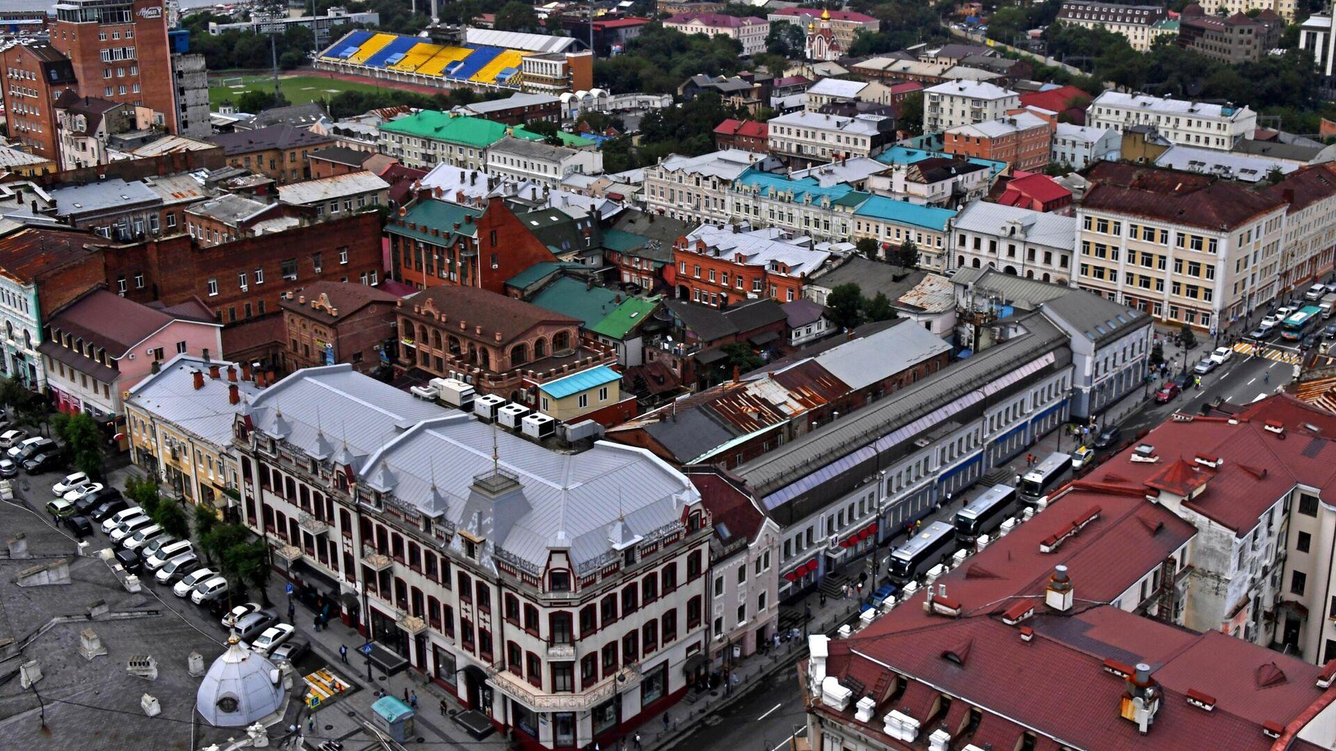 Вид на Владивосток с крыши высотного здания администрации Приморского края - РИА Новости, 1920, 31.05.2021