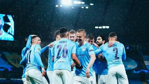 Игроки футбольного клуба Манчестер Сити.