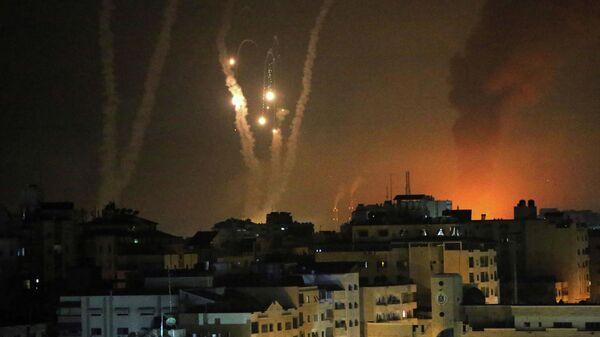 Ракеты, выпущенные по Израилю в Газе