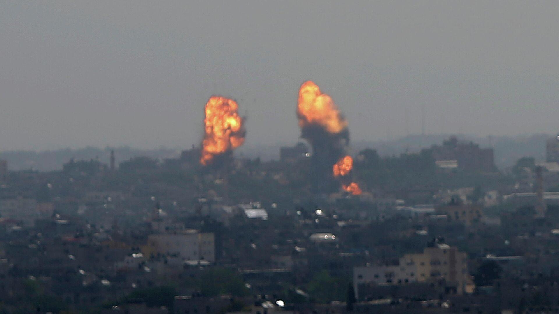 Последствия израильского авиаудара по Газе - РИА Новости, 1920, 12.05.2021