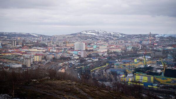 Вид на Мурманск с сопки Зеленый мыс